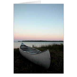 Canoe on Beach Card