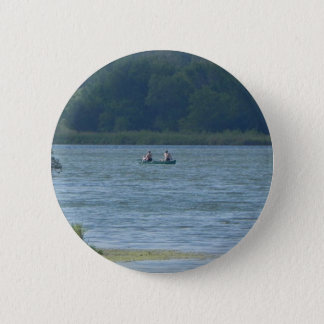Canoe on the water 2 inch round button