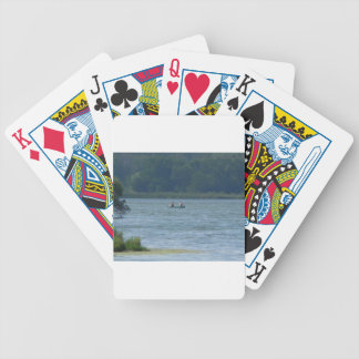 Canoe on the water bicycle playing cards