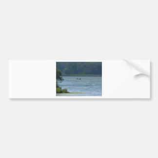 Canoe on the water bumper sticker