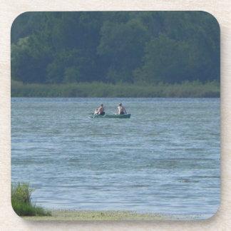 Canoe on the water coaster