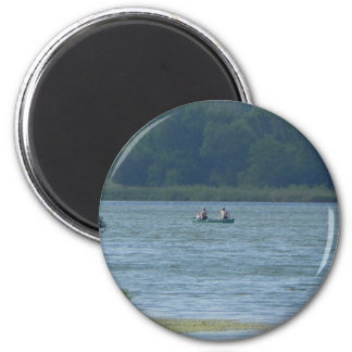 Canoe on the water magnet