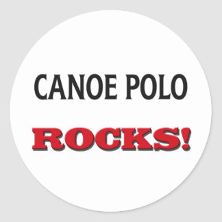Canoe Polo Rocks Classic Round Sticker