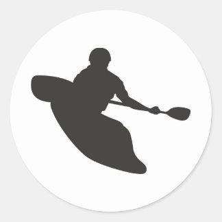 Canoe Round Sticker