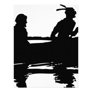 Canoe Silhouette Letterhead