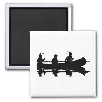 Canoe Silhouette Magnet