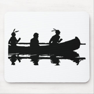 Canoe Silhouette Mouse Pad
