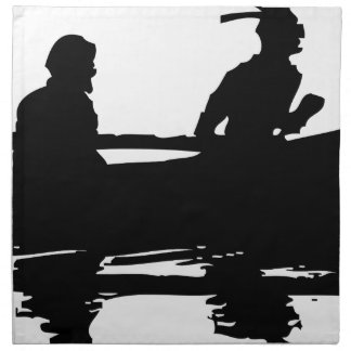 Canoe Silhouette Napkin