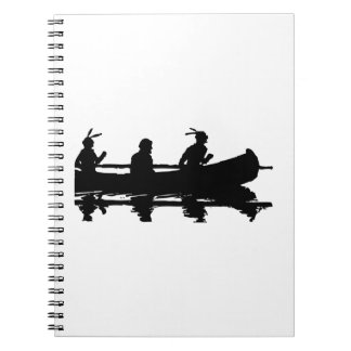 Canoe Silhouette Notebook