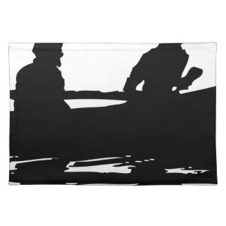 Canoe Silhouette Placemat