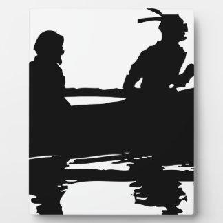 Canoe Silhouette Plaque