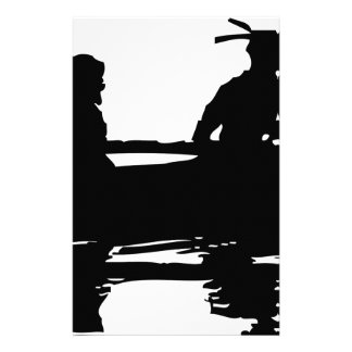 Canoe Silhouette Stationery