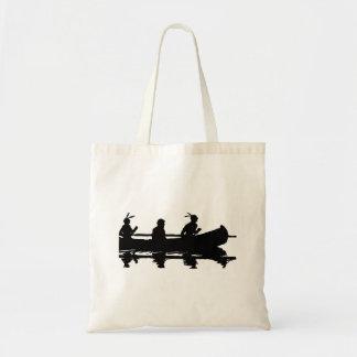Canoe Silhouette Tote Bag