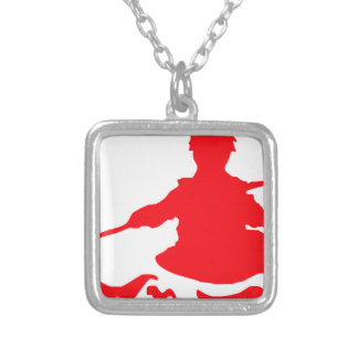 Canoe Silver Plated Necklace