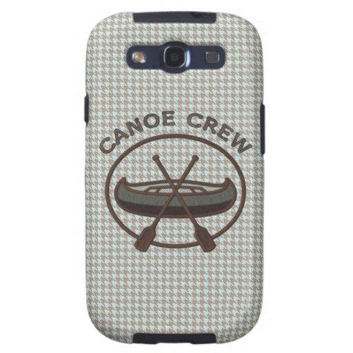 Canoe Sports Logo on Herringbone Samsung Galaxy SIII Covers