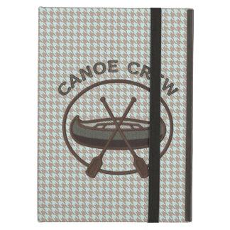 Canoe Sports Logo on Herringbone iPad Covers