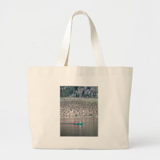 Canoe the Similkameen River in BC, Canada Large Tote Bag