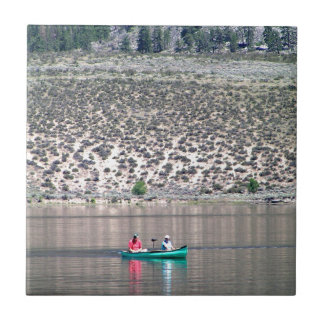 Canoe the Similkameen River in BC, Canada Tile