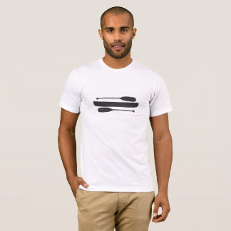 Canoe with Two Single Blade Paddles T-Shirt