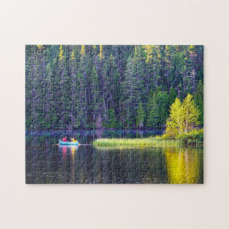 Canoeing in  Quebec Canada. Jigsaw Puzzle