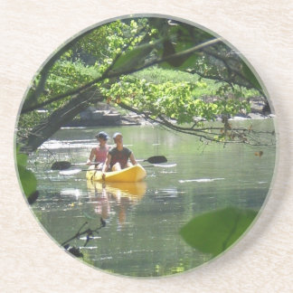 Canoeing on French Creek Park State Park Beverage Coasters