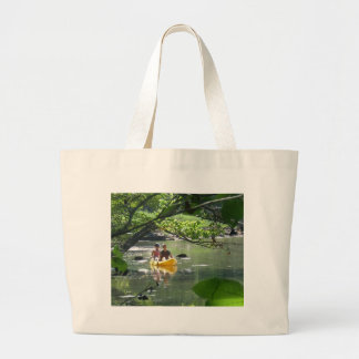 Canoeing on French Creek Park State Park Large Tote Bag