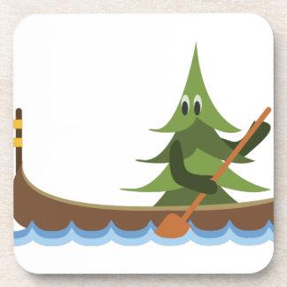 Canoeing Pine Tree Coaster