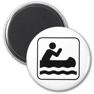 Canoeing Symbol Magnet