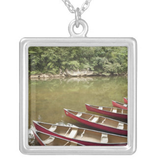 Canoeing the Macal River, Belize Silver Plated Necklace