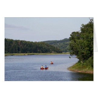 Canoeists on The Margaree River Card