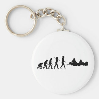 Canoers Canoeing Sport Basic Round Button Keychain