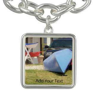 Canoes And Kayaks by Shirley Taylor Charm Bracelet