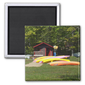 Canoes Beached Magnet