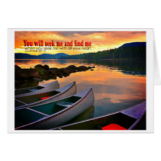 Canoes begging an adventure card