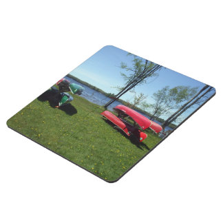 Canoes on a Beach Puzzle Coaster