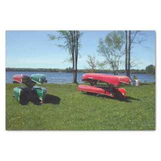 Canoes on a  Beach Tissue Paper