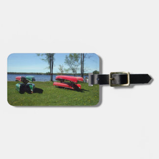 Canoes on Beach Luggage Tag