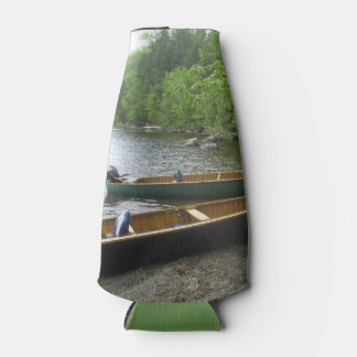 Canoes on East Grand Lake, Maine. Bottle Cooler