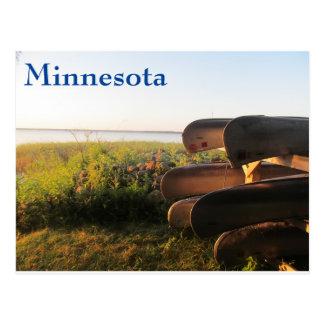 Canoes on Leech Lake Postcard