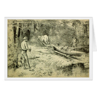 Canoing in the North Woods Card