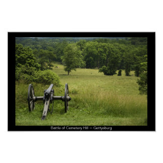 Canon at Cemetery Hill Gettysburg Poster