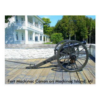 Canon at Fort Mackinac Postcards