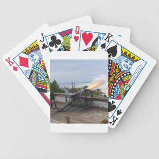 Canon Firing Bicycle Playing Cards