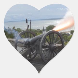 Canon Firing Heart Sticker