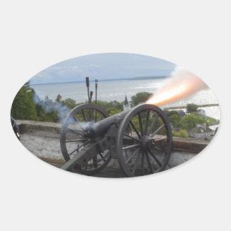 Canon Firing Oval Sticker