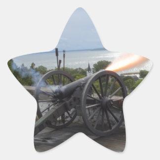 Canon Firing Star Sticker