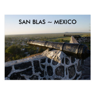 Canons at San Blas Mexico Postcard