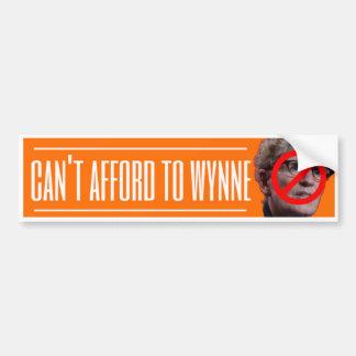 'Can't Afford to Wynne' Bumper Sticker