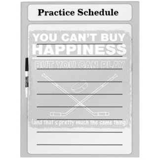 Can't Buy Happiness Hockey Dry Erase Boards