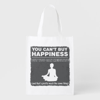 Can't Buy Happiness Meditate Market Totes